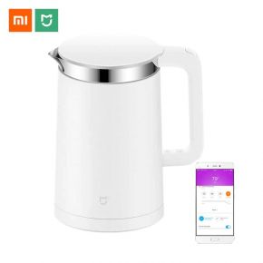 Xiaomi MIJIA Electric Kettle Smart Constant Temperature Control Kitchen Water Kettle Samovar 1.5L Thermal Insulation Teapot APP - Porcelain Material - White