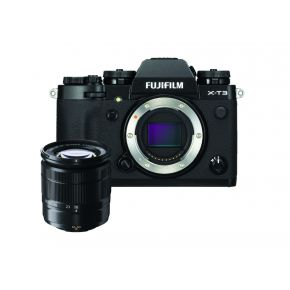Fujifilm X-T3 Black With 16-50mm Bundle With 16GB Card,Backpack,Tripod and 2 Years Extended Warranty