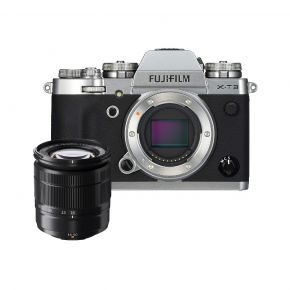 Fujifilm X-T3 Silver Camera With 16-50mm With 16GB Card, Backpack, Tripod And 2 Year Extended Warraty