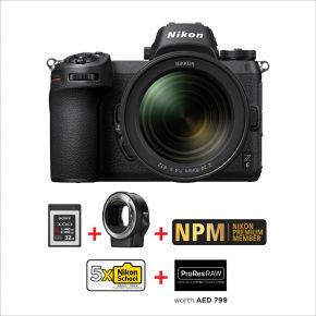 Nikon Z6 24-70mm F4 Mirrorless Camera Bundle Offer with FT-Z Adapter And 32GB XQD Card