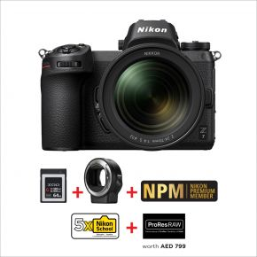 Nikon Z7 24-70mm F4 Mirrorless Camera Bundle Offer with FT-Z Adapter And 64GB XQD Card