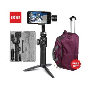Gimbal Stabilizer Zhiyun Smooth 4 For Mobile With Trolley Bag